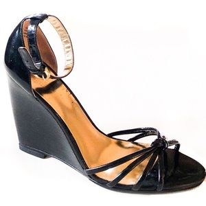 Coach Tabatha Black Patent Leather Sandals